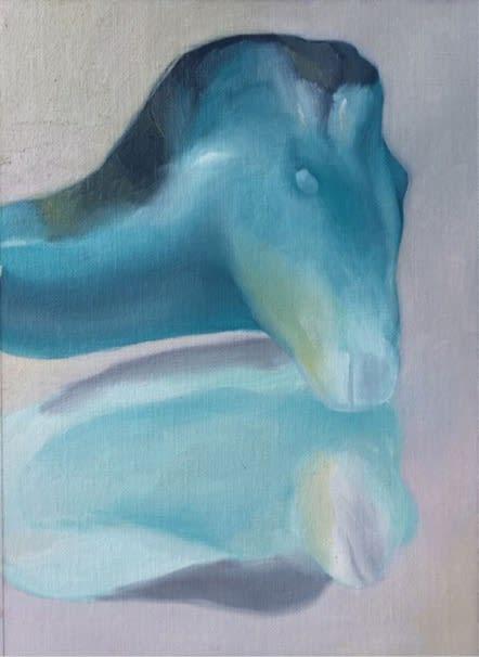 Maude Maris, Head2, 2019, Oil On Canvas, 22 X 16 cm.