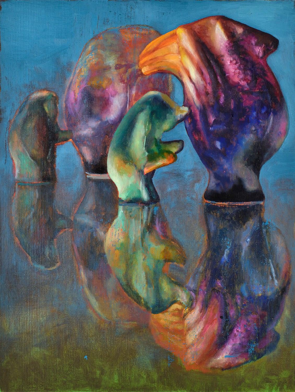 Purple Apples 2021 Oil on canvas 40 x 30 cm