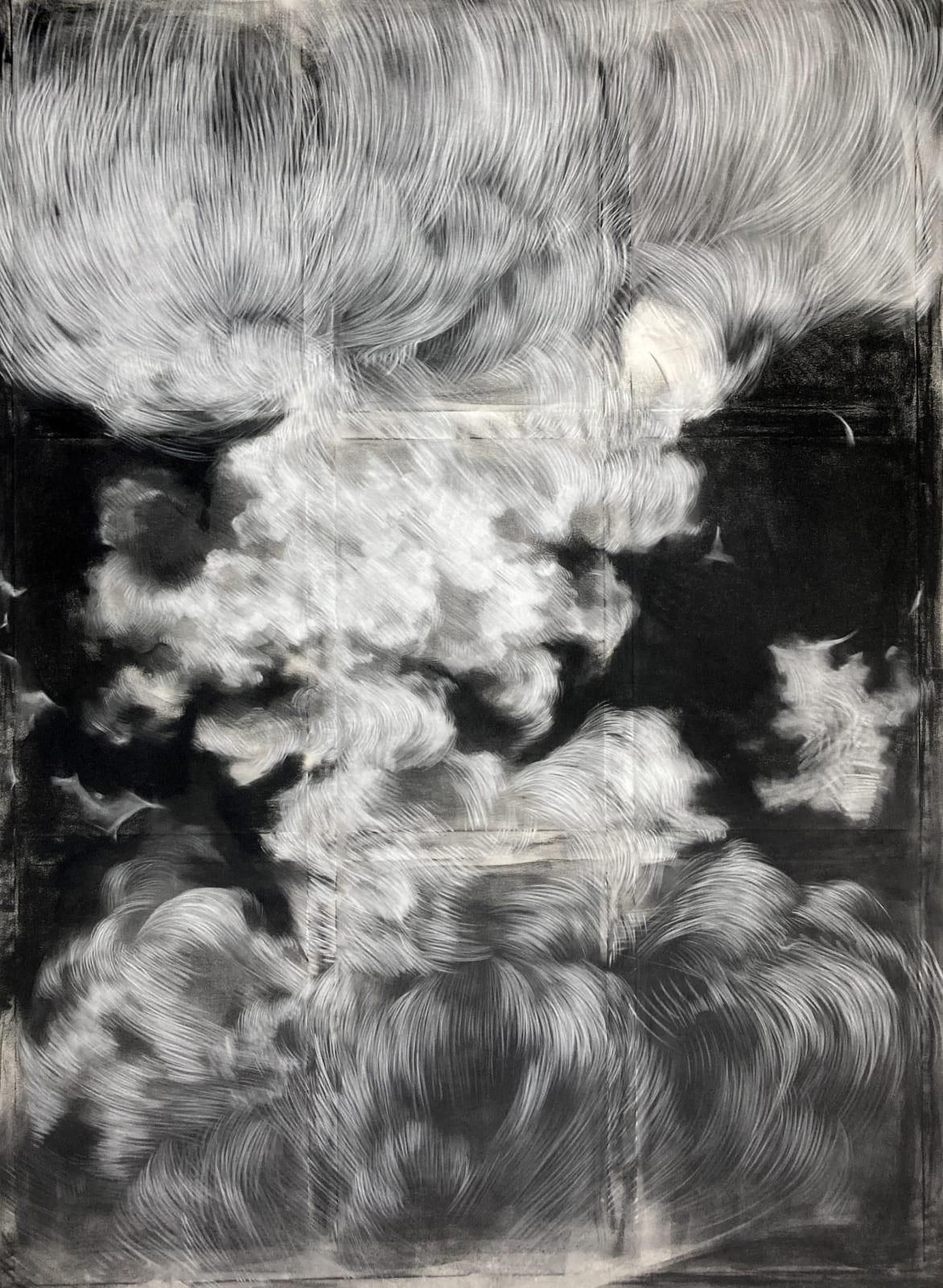 Cloud Study II 2021 Charcoal & Chalk on Canvas 220 x 180 cm