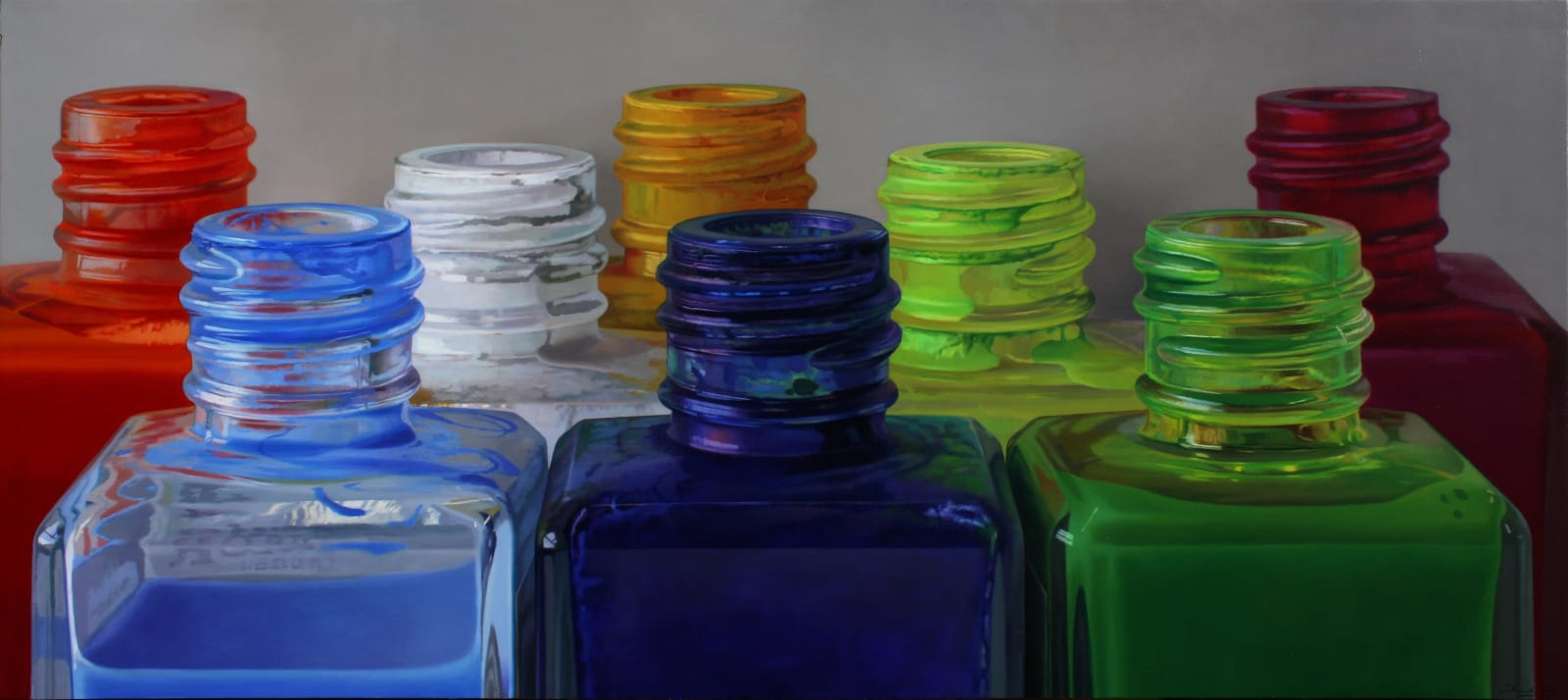Colour VII Oil on panel 85 x 190 cm