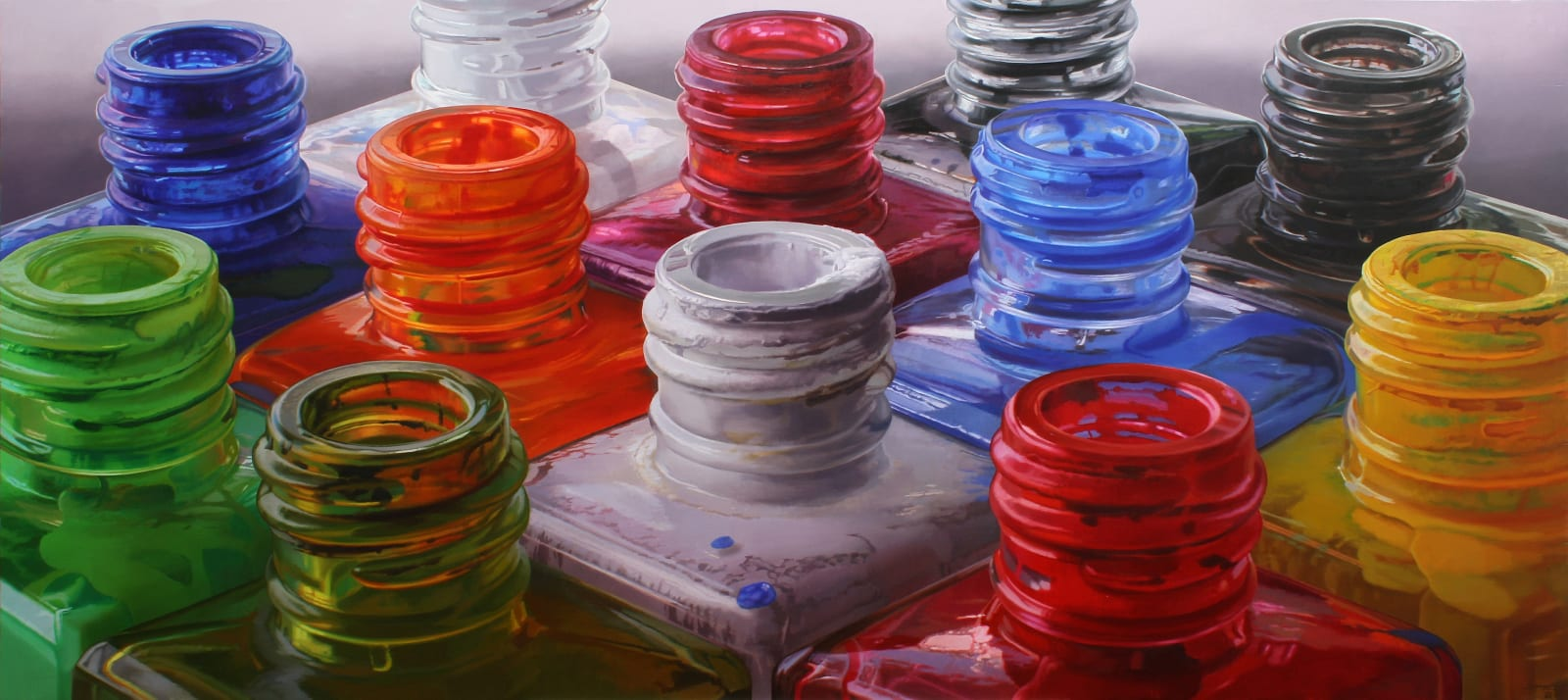 Colours VIII Oil on board 85 x 190 cm