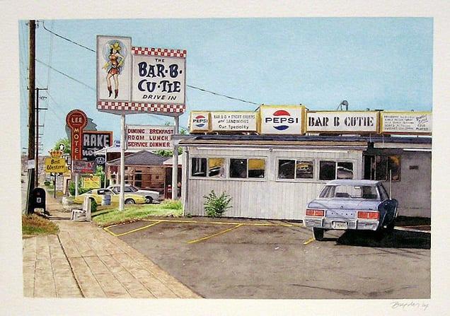 John Baeder Bar-B-Cutie, Nashville, TN