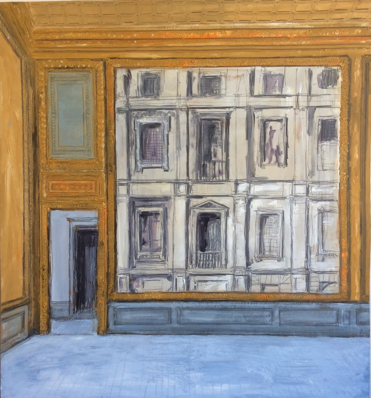 Neoclassical Palazzo - Roma 2020 Oil on panel 70 x 64 cm / 27.5 x 25 in