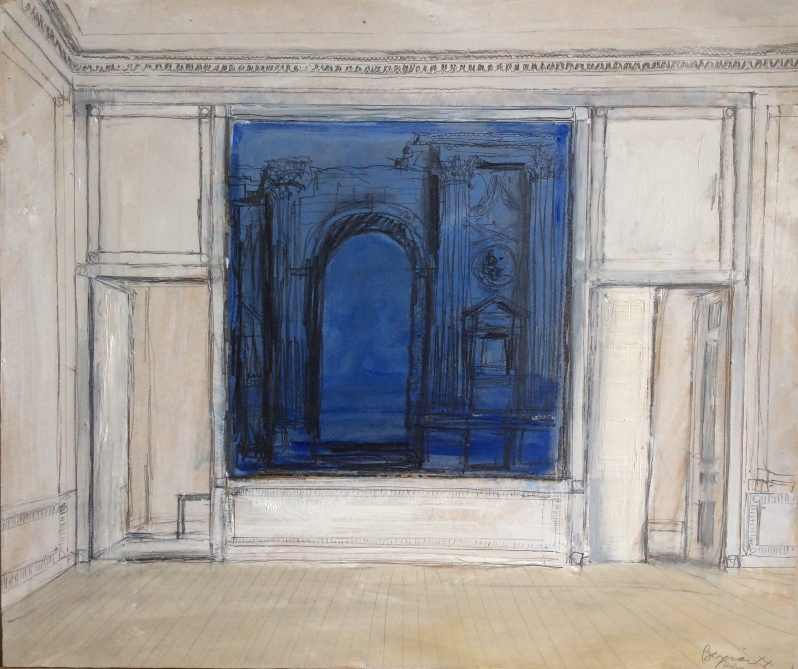 Romans in Rheims 2020 Oil on panel 44 x 52 cm /17 x 20.5 in