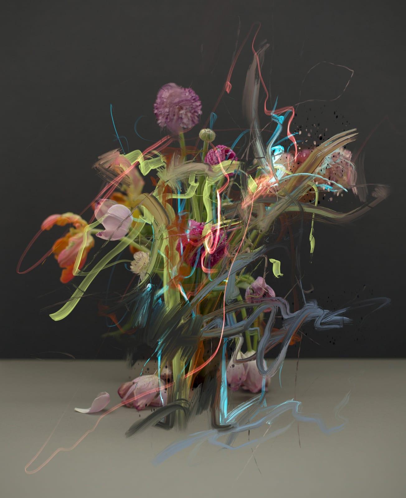 Sandra Kantanen, Still life (Flowers 1), 2020