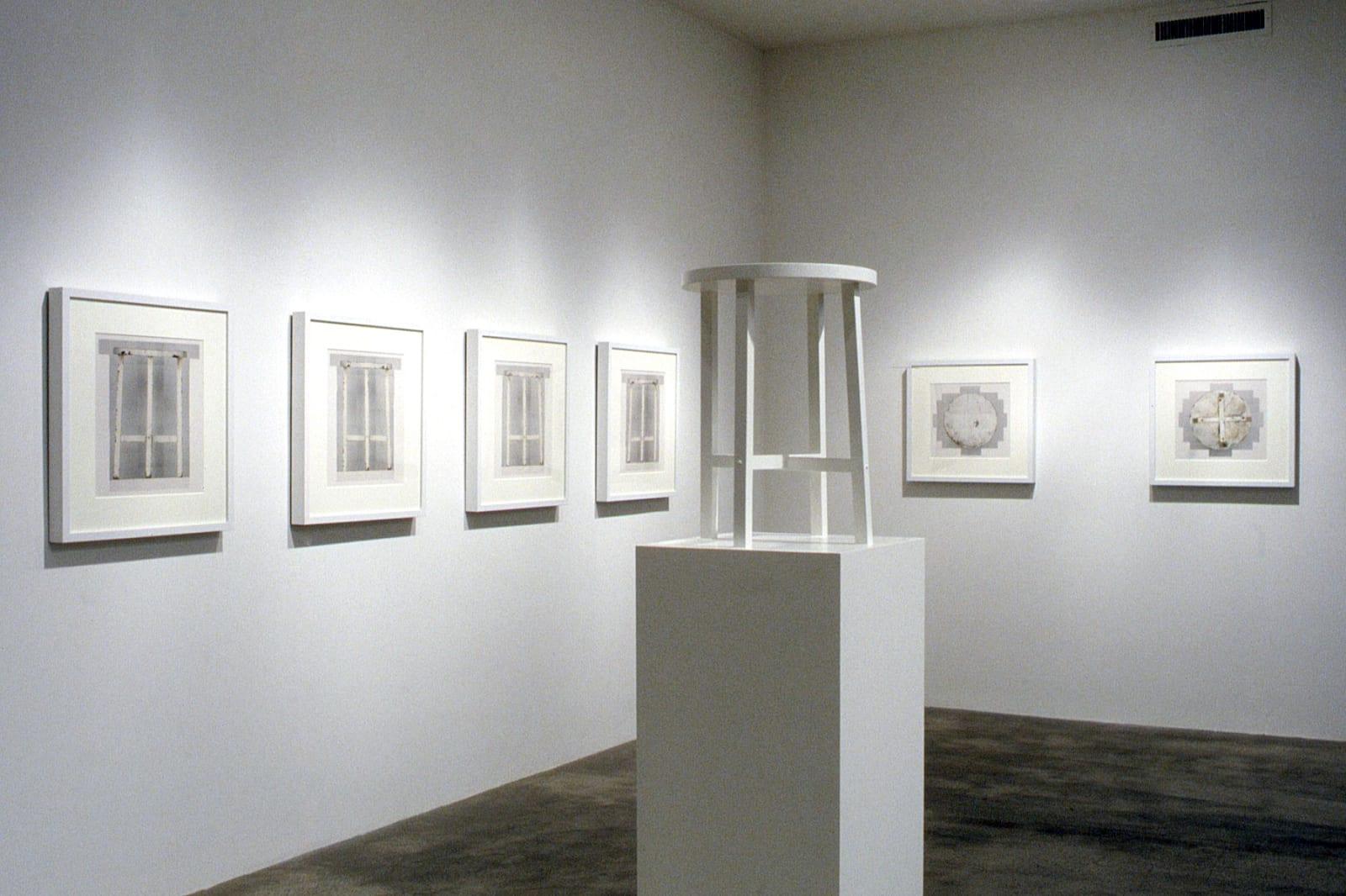 Roy McMakin | A White Table and A Black Table, Each Depicted in Photographs and Sculpture