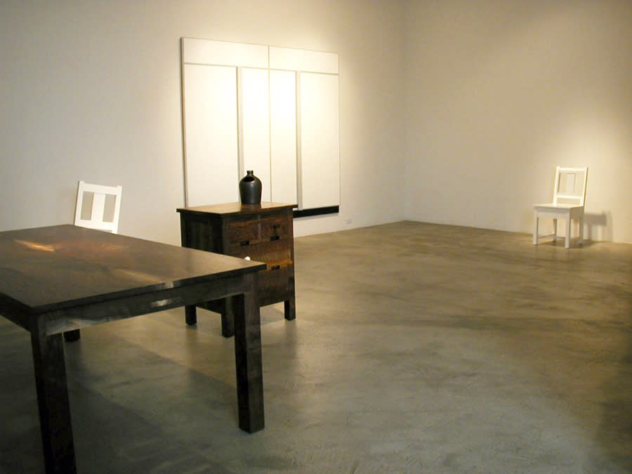 Roy McMakin | A Table, Two Chairs, A Small Chest, One Large Painting and Several Drawings