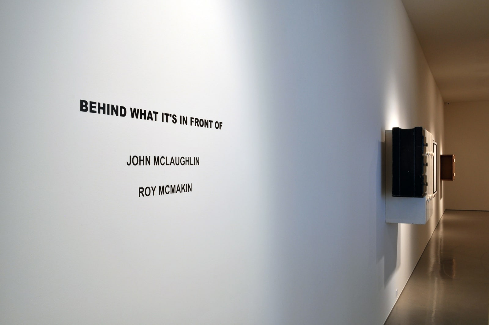 Roy McMakin and John Mclaughlin   Behind What It's In Front Of