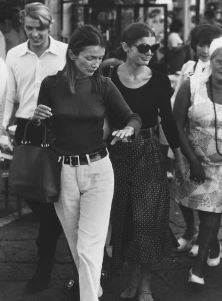 Ron Galella, Lee Radziwill & Jackie Onassis, Capri, 1970