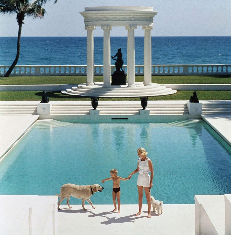 Slim Aarons, C.Z. Guest, Villa Artemis, Palm Beach, 1955