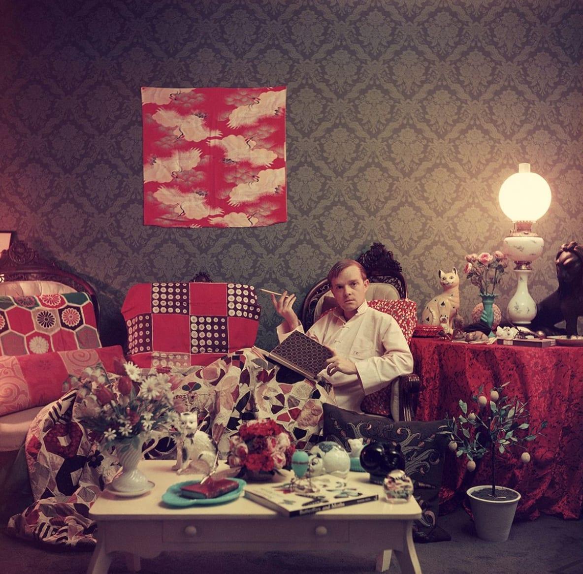 Slim Aarons, Truman Capote, Brooklyn Heights, New York, 1950s