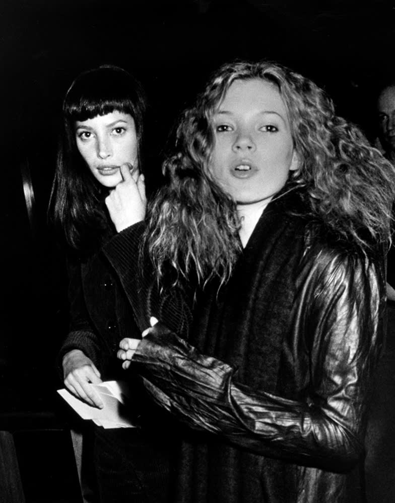 Ron Galella, Christy Turlington & Kate Moss, New York, 1993