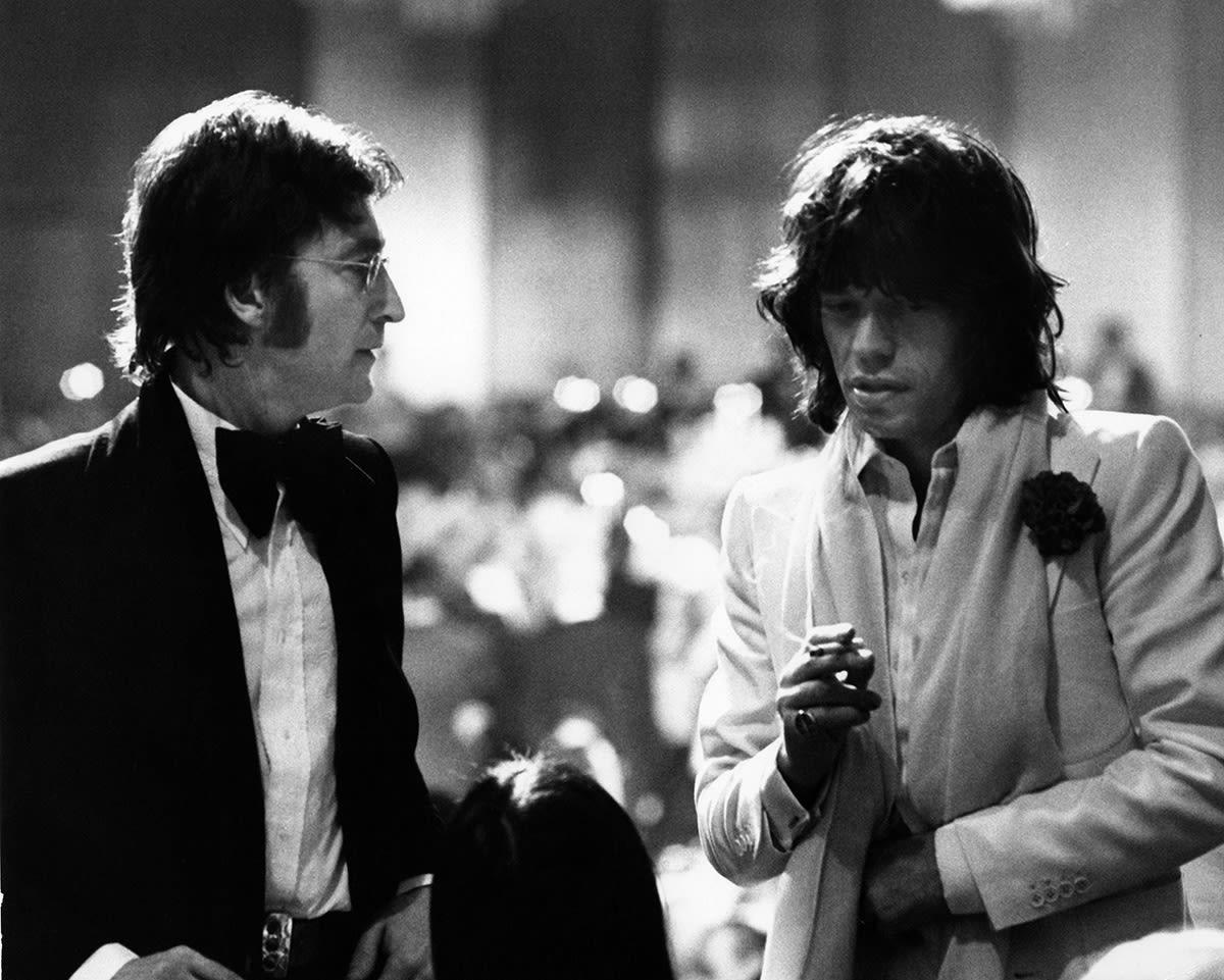 Ron Galella, John Lennon & Mick Jagger, Los Angeles, 1974