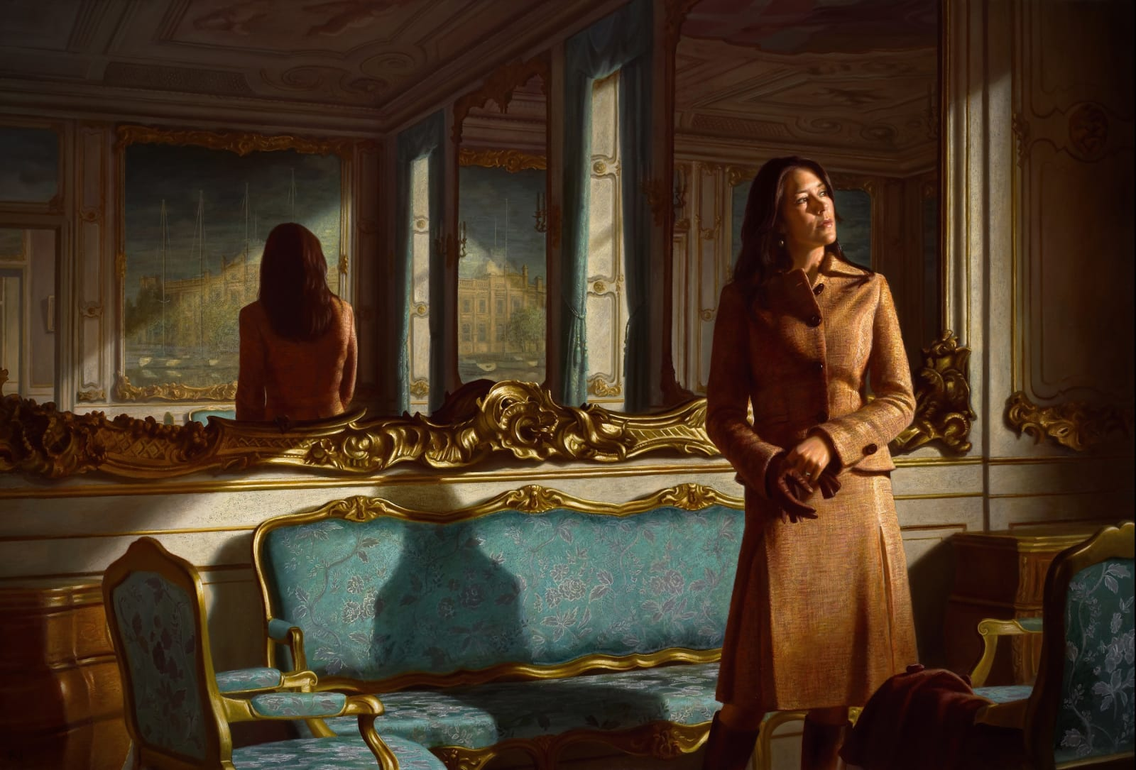 HRH Crown Princess Mary of Denmark Oil on canvas 170 x 250 cm The Museum of National History