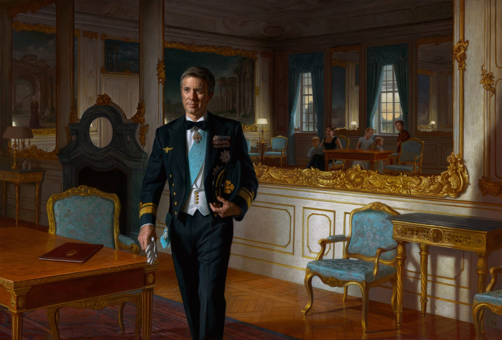 HRH Crown Prince Frederik of Denmark 2018 Oil on canvas 170 x 250 cm The Museum of National History