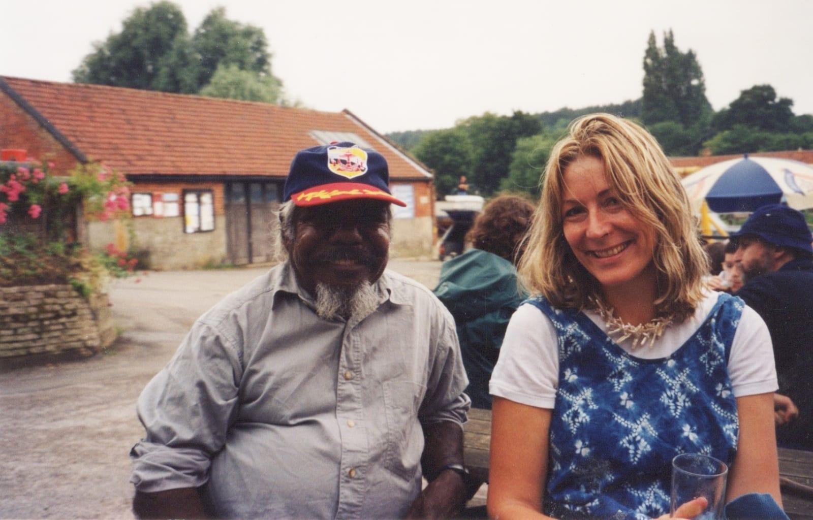 Rebecca Hossack and Jimmy Pike in Suffolk