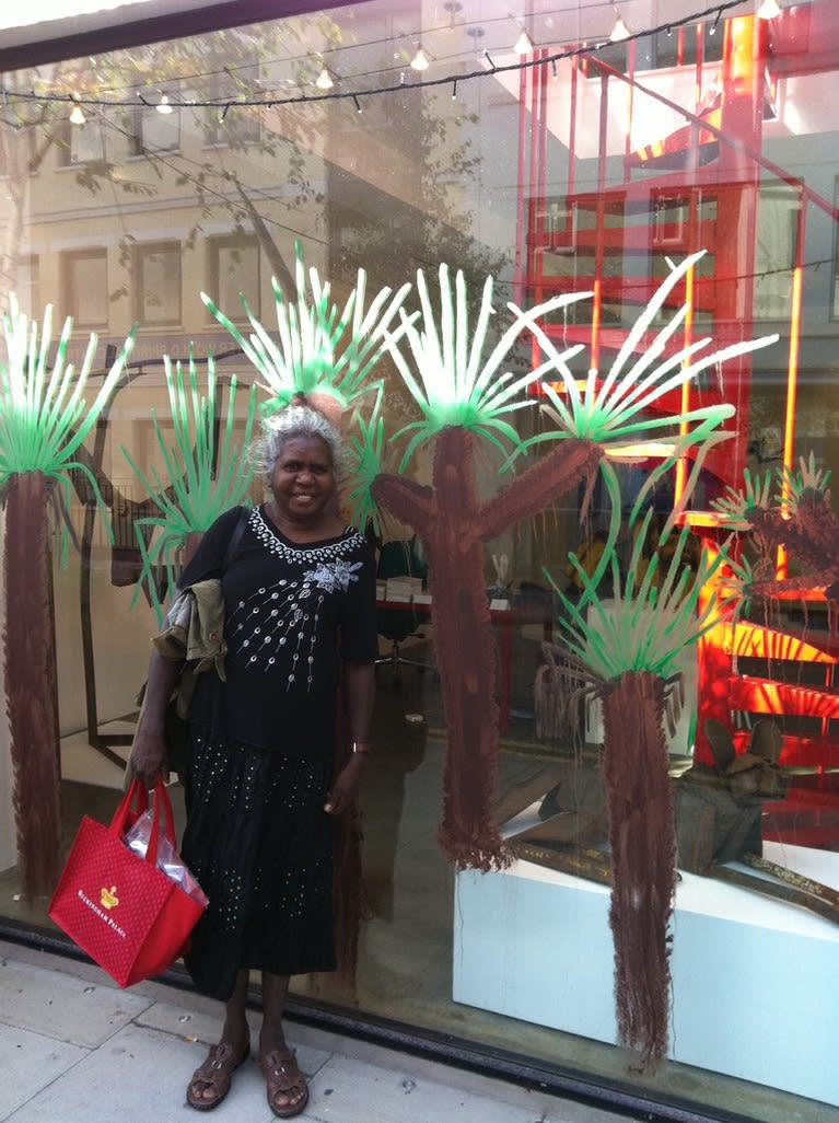 Judy Manany outside the gallery