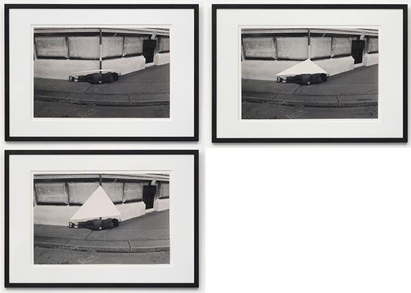 Valie EXPORT 1940 Drei Figurationszeichen Drei Körperkonfigurationen (Three Characters Figuration Three Bodies Configuration), 1972/1976 Set of three gelatin silver prints Each: 36.5 x 55 cm Edition 3 of 3