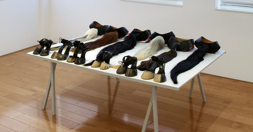 Installation view at Karsten Schubert gallery.