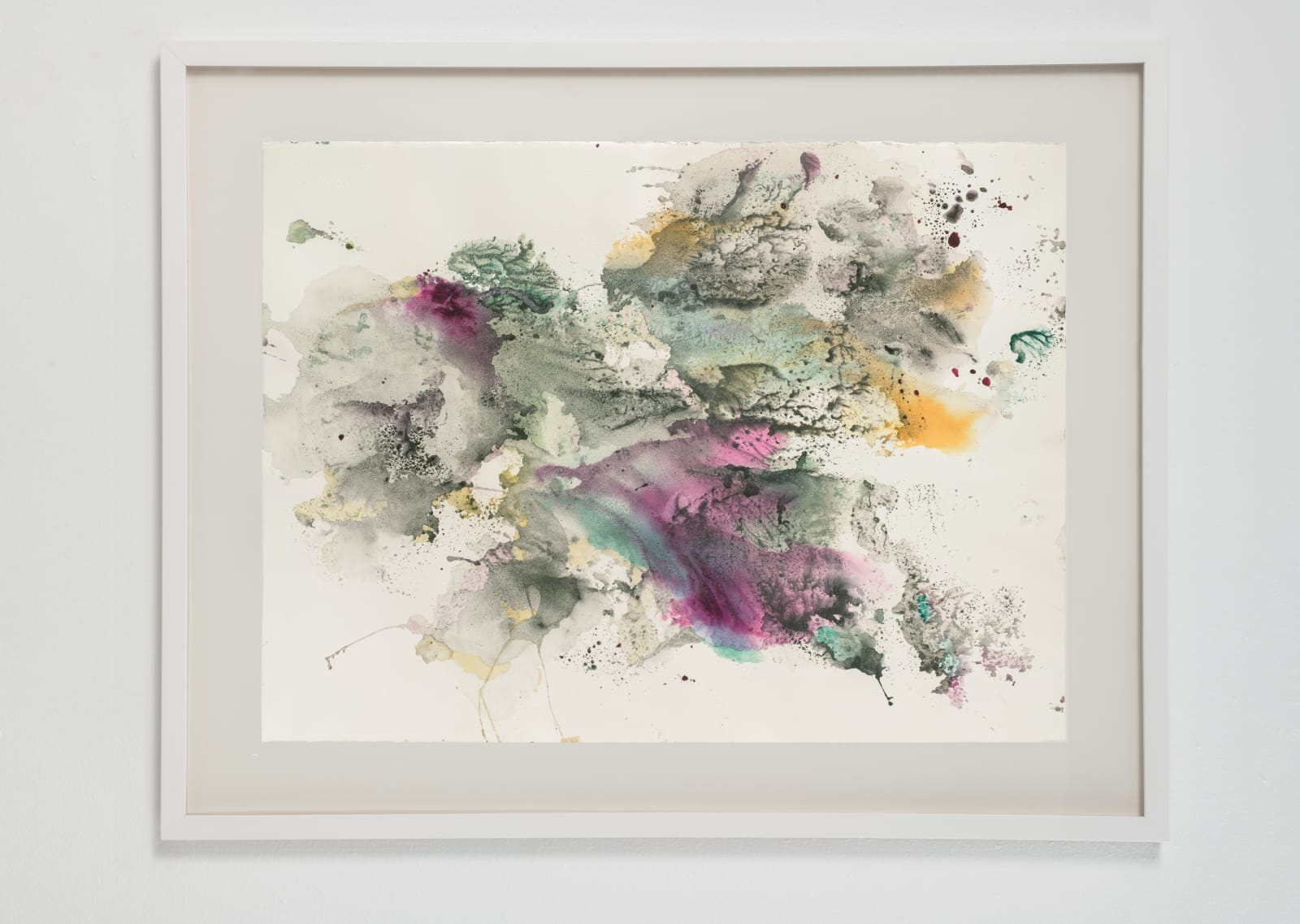 Michele Colburn Altostratus Prelude, 2020 Gunpowder and watercolors on Arches paper with deckled edges 55.9 x 76.2 cm, 22 x 30 in. (Frame not included) Photo: Lee Stalsworth
