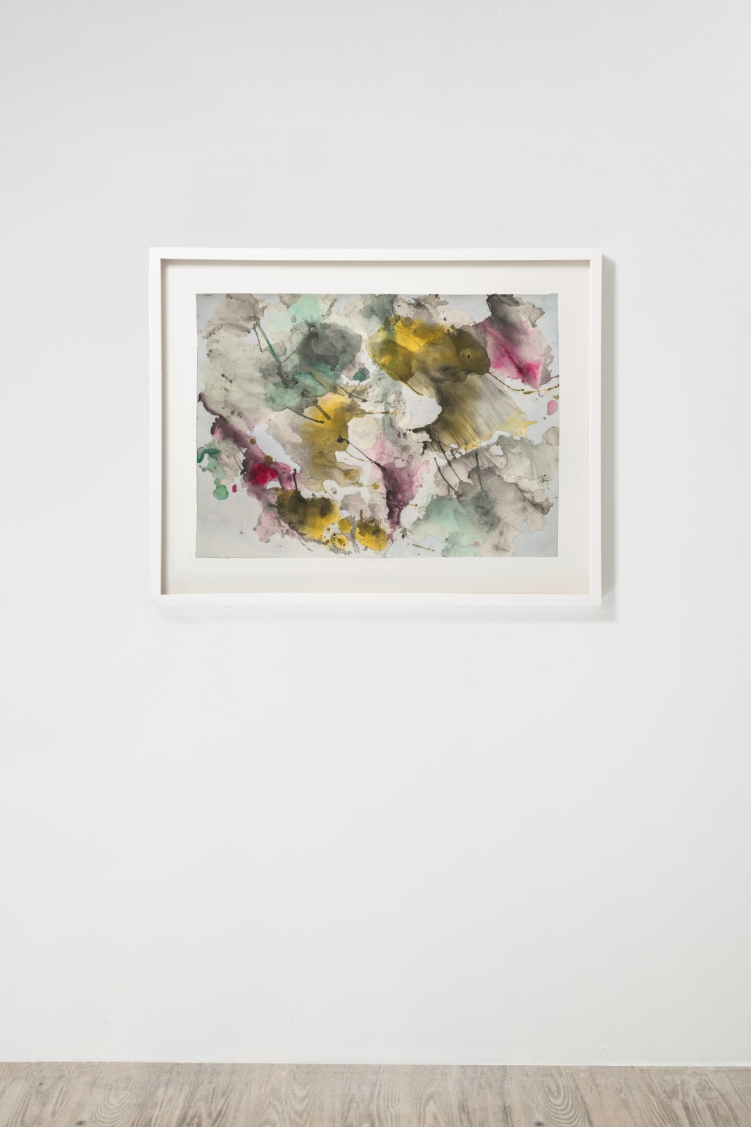 Michele Colburn Confrontation, 2020, Gunpowder and watercolors on Fabriano paper 55.9 x 76.2 cm, 22 x 30 in. (Frame not included) Photo: Lee Stalsworth