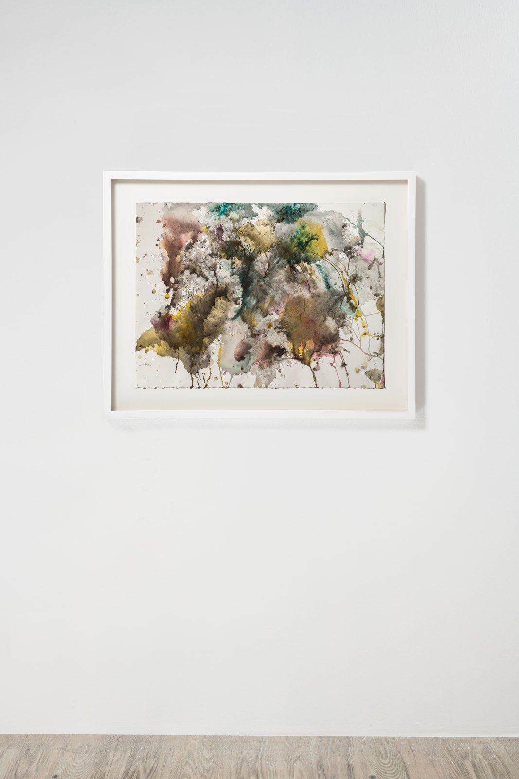 Michele Colburn Fallout, 2020 Gunpowder and watercolors on Arches paper with deckled edges 55.9 x 76.2 cm, 22 x 30 in. (Frame not included) Photo: Lee Stalsworth