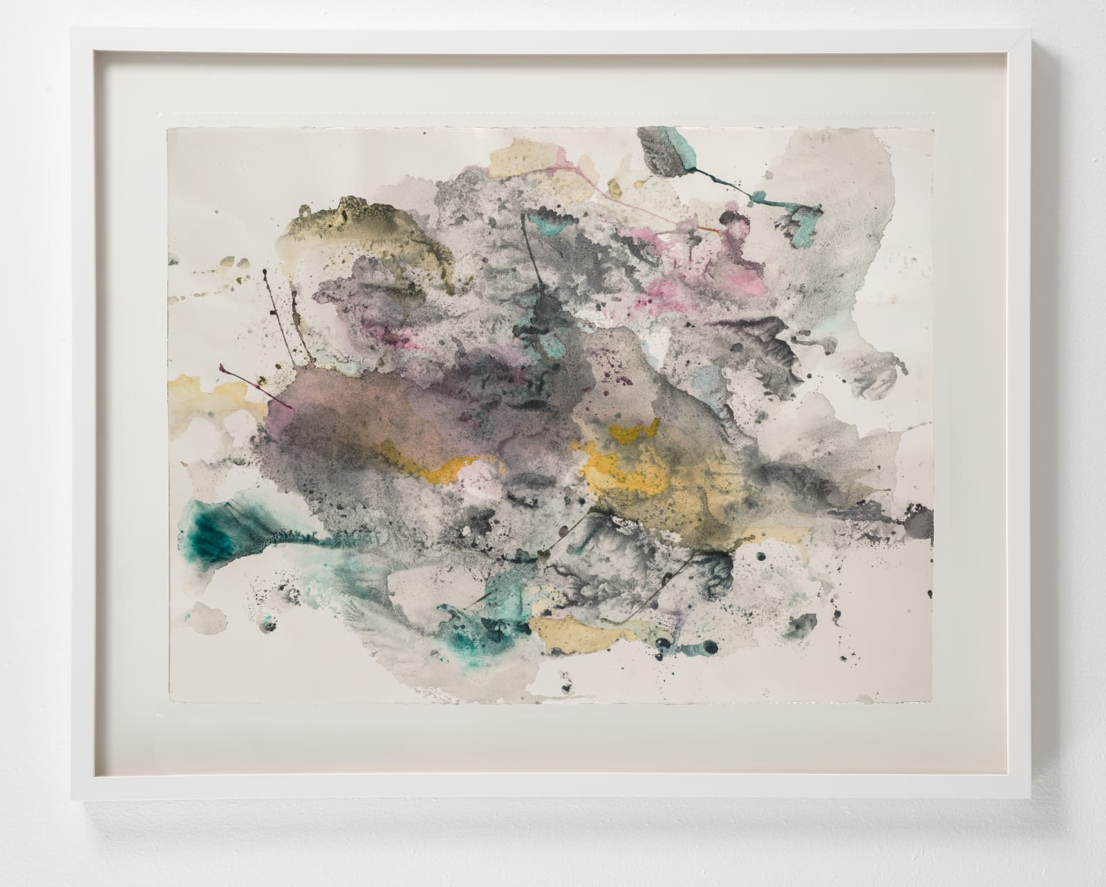 Michele Colburn Kronos, 2020 Gunpowder and watercolors on Arches paper with deckled edges 55.9 x 76.2 cm, 22 x 30 in. (Frame not included) Photo: Lee Stalsworth