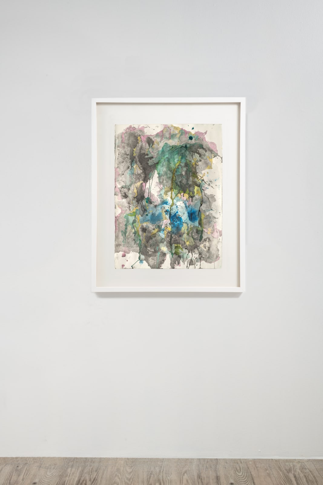 Michele Colburn Pendant Lui Un Déluge, 2020 Gunpowder and watercolors on Arches paper with deckled edges 76.2 x 55.9 cm, 30 x 22 in. (Frame not included) Photo: Lee Stalsworth