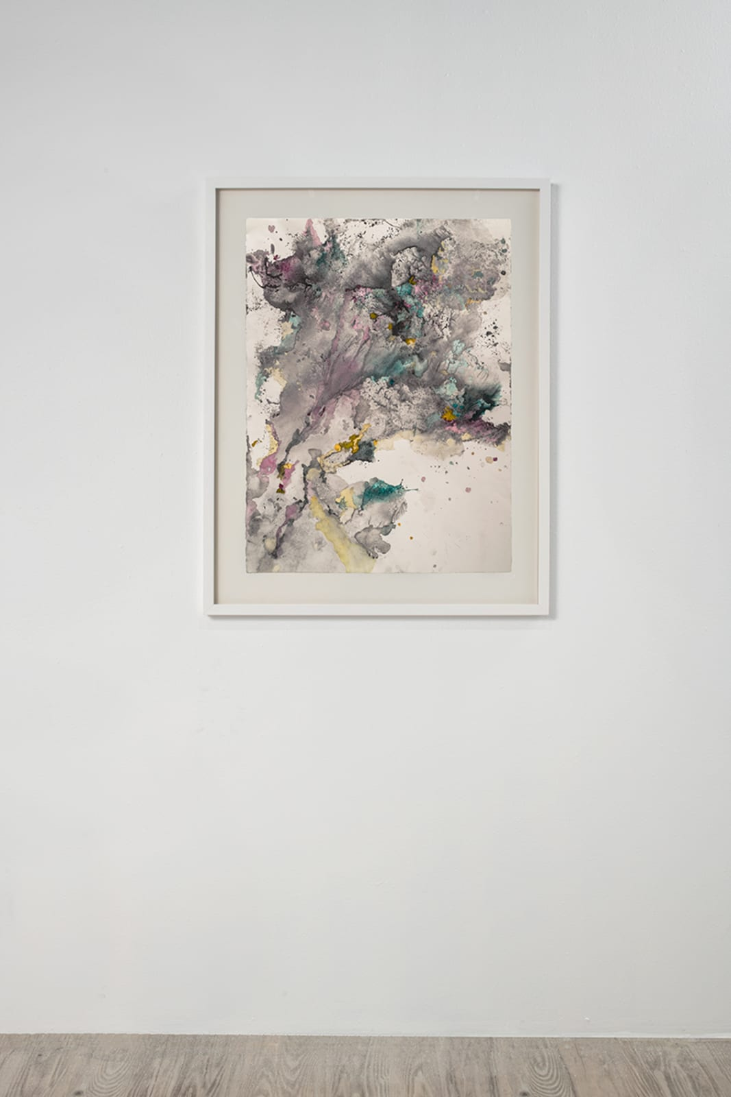 Michele Colburn Updraft, 2020 Gunpowder and watercolors on Arches paper 76.2 x 55.9 cm, 30 x 22 in. (Frame not included) Photo: Lee Stalsworth