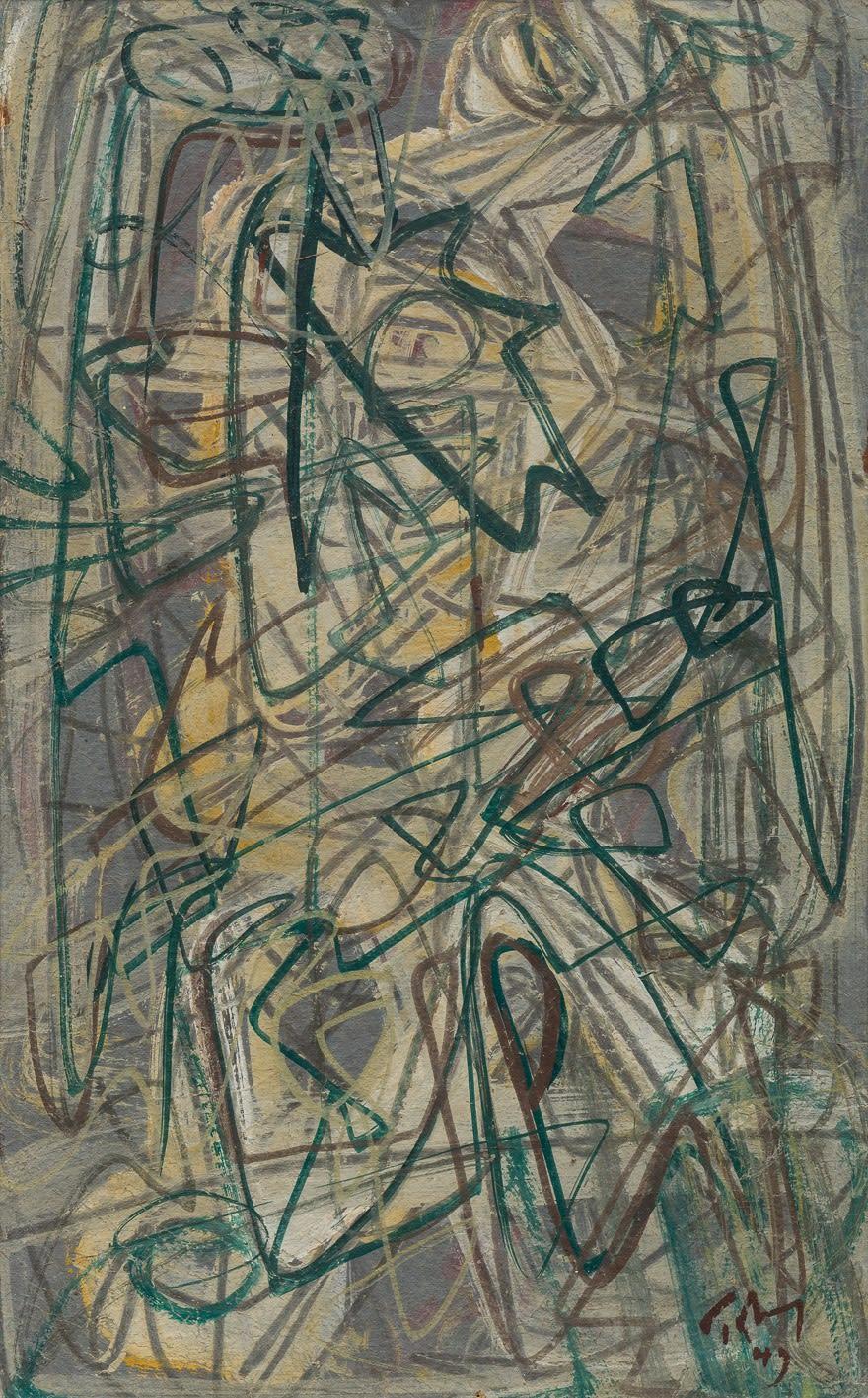 Mark Tobey Flight, 1943 tempera sobre papel 29.5 x 18.3 cm