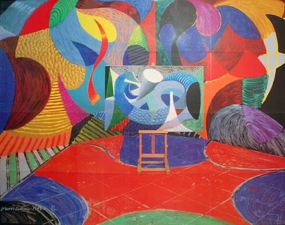 David Hockney Painted Environment III, 1993