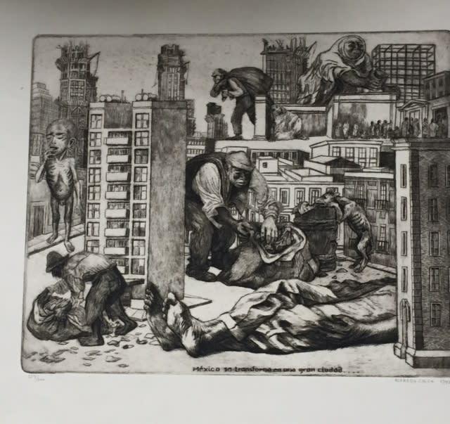 Alfredo Zalce Mexico se transforma en una gran ciudad…, 1947
