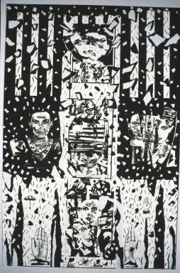 Patssi Valdez Scattered, Self-Help Graphics, Los Angeles, CA, 1987