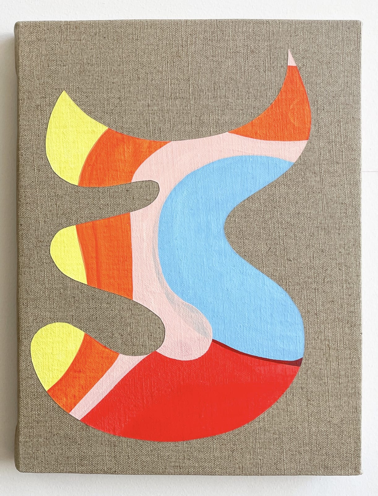Carlos Rosales-Silva Diablito, 2021 Flashe on linen 12 x 9 x 2.5 in 30.5 x 22.9 x 6.3 cm