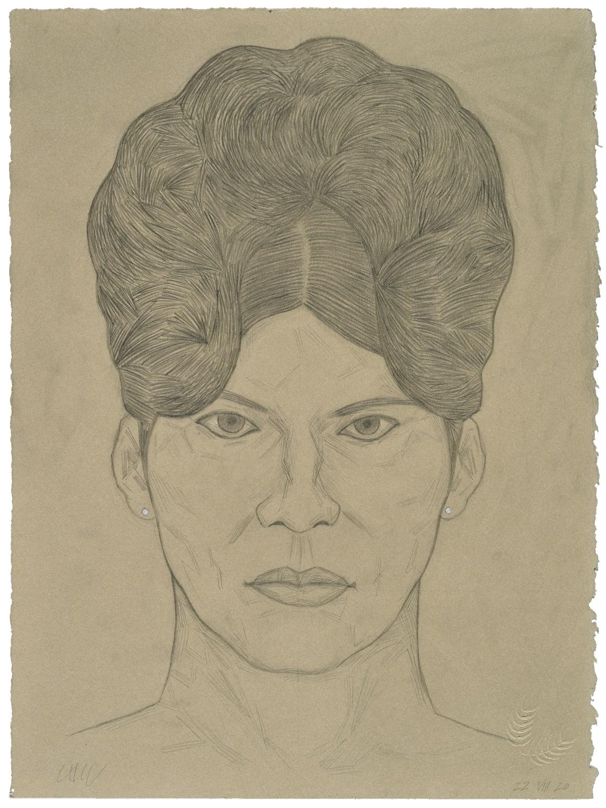 César A. Martínez Fulana, 2021 Graphite on Stonehenge paper 15 x 11 in 38.1 x 27.9 cm