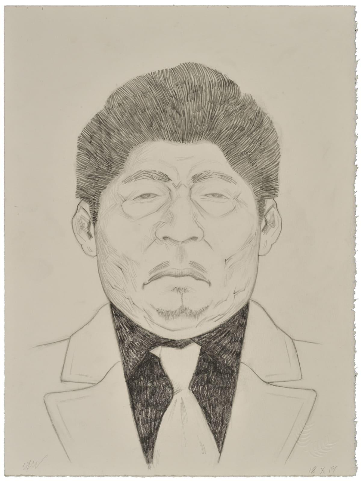 César A. Martínez Veterano (white tie), 2021 Graphite on Stonehenge paper 15 x 11 in 38.1 x 27.9 cm