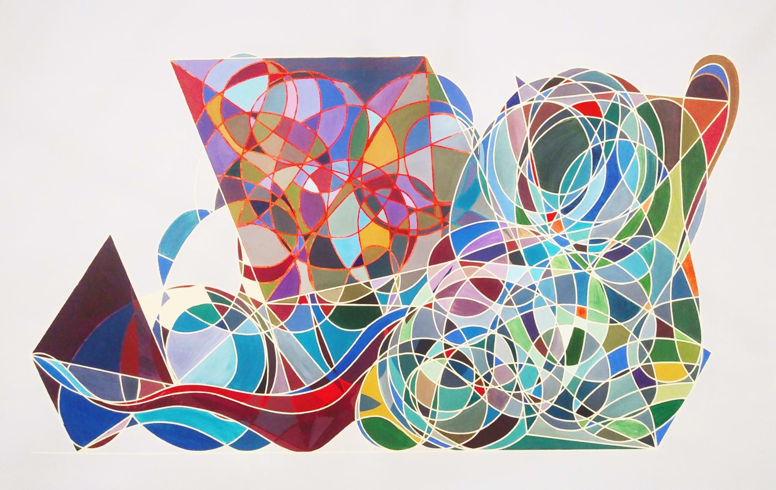 Cecilia Biagini E la nave va, 2020 Acrylic on canvas 40 x 66 in 101.6 x 167.6 cm