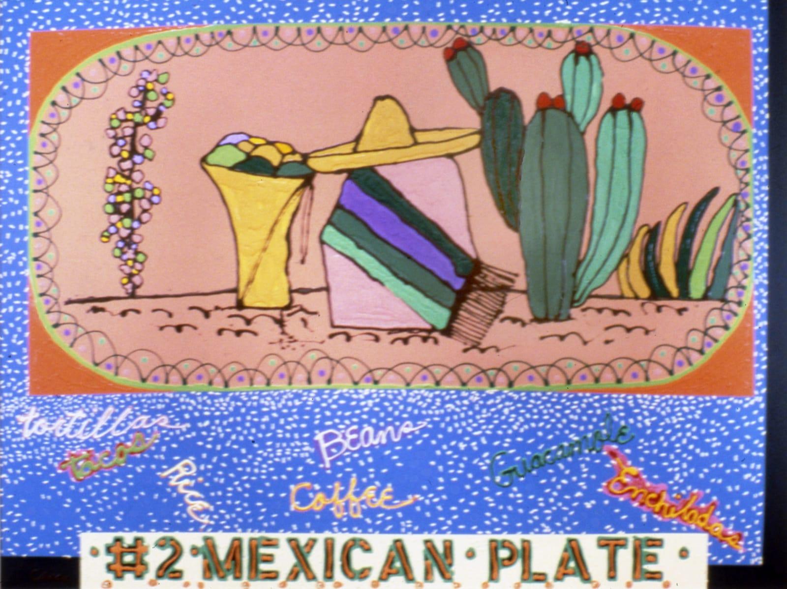 Mel Casas Humanscape 135: #2 Mexican Plate, 1984-09-01