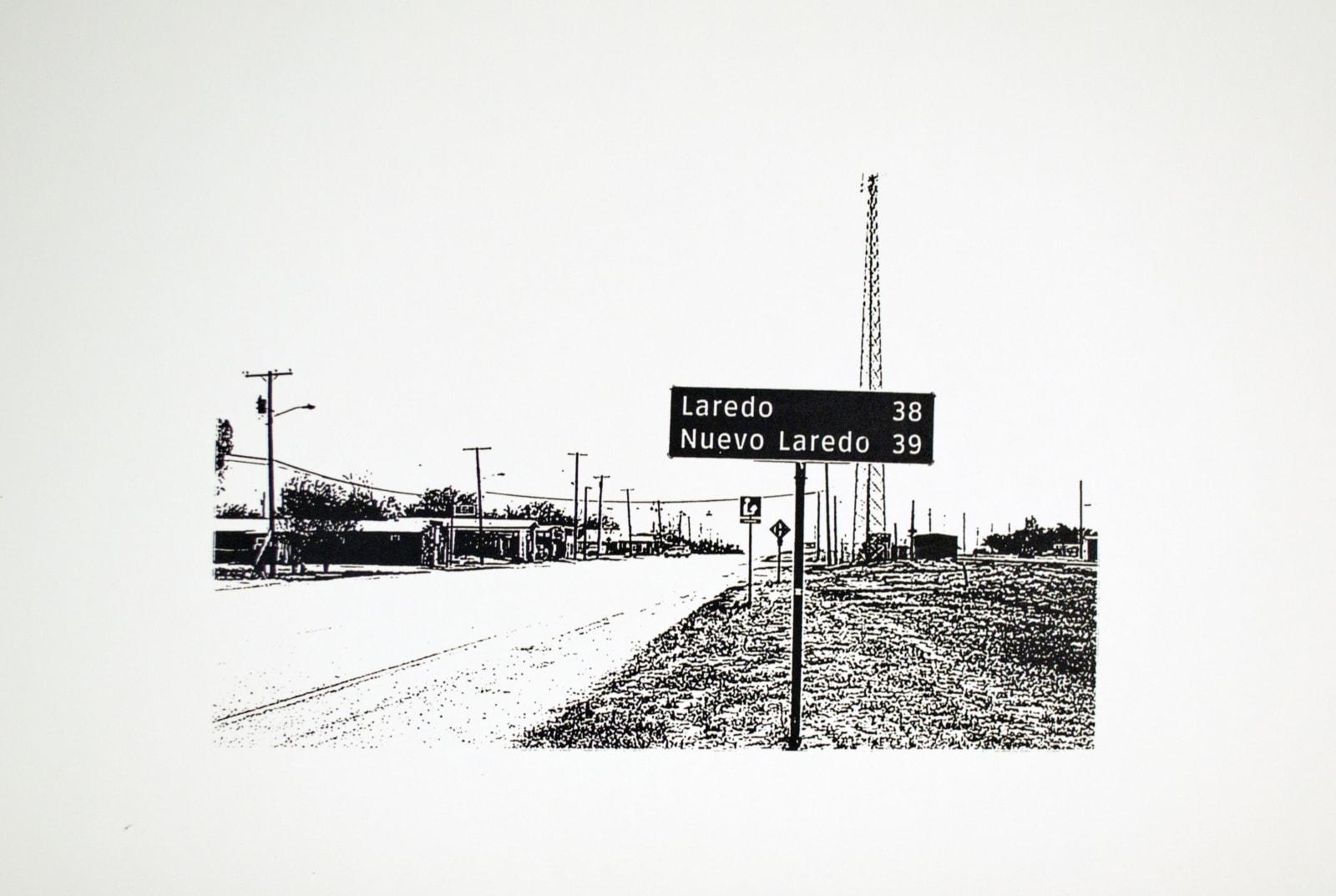 Ethel Shipton Exit Sign Series: Los Dos Laredos, 2014