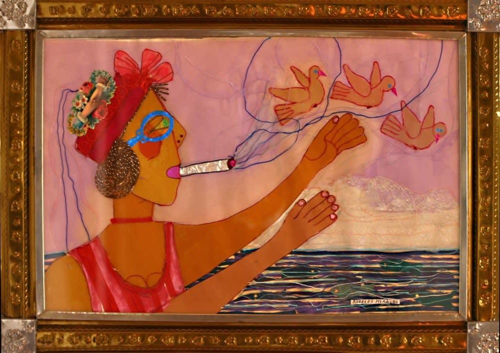 Rodolfo Morales Untitled (girl smoking)