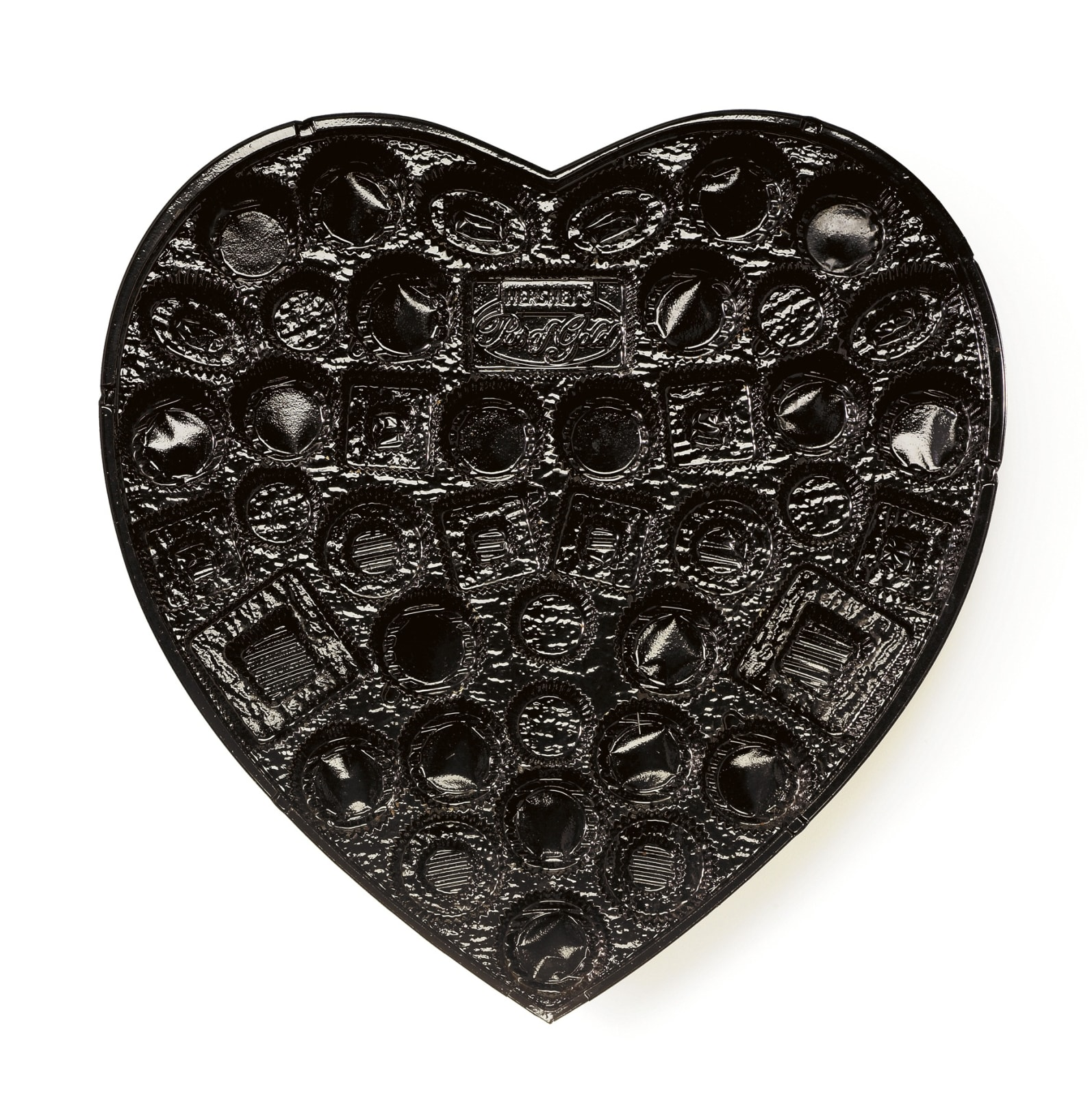 Chuck Ramirez Candy Tray: Black Heart, 2008