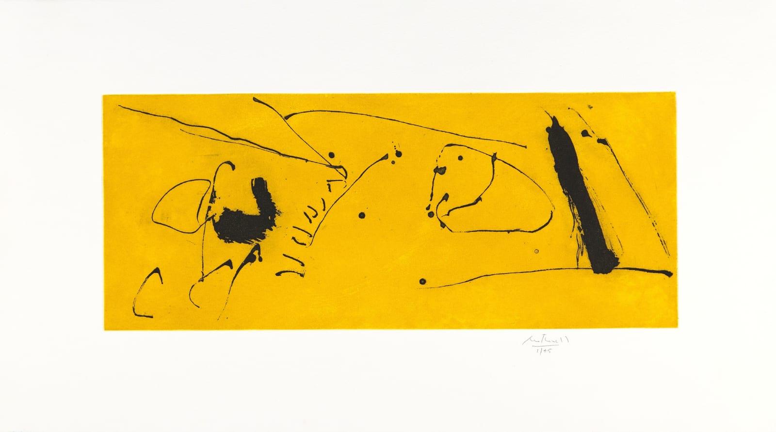 Robert Motherwell Yellow Flight, 1986