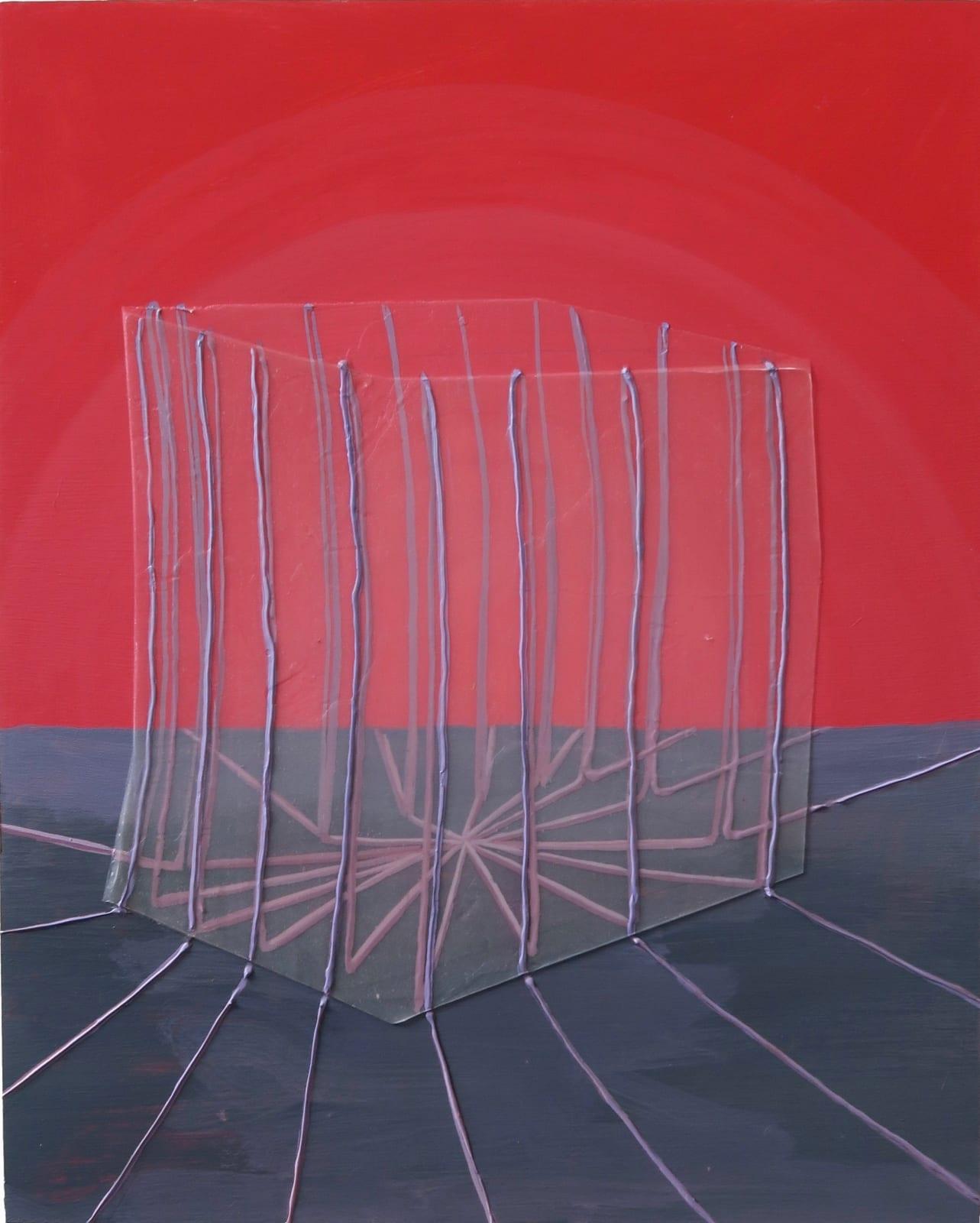 Ricardo Cabret Tu data esta segura, 2021 Polymers and acrylic on panel 20 x 16 in 50.8 x 40.6 cm