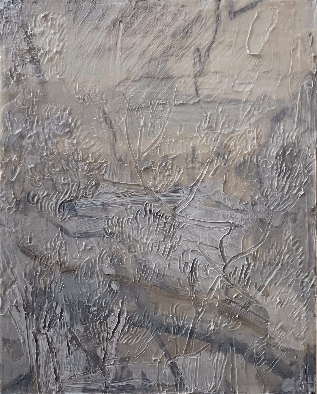 Ricardo Cabret Sin titulo, 2021 Polymers and acrylic on panel 20 x 16 in 50.8 x 40.6 cm