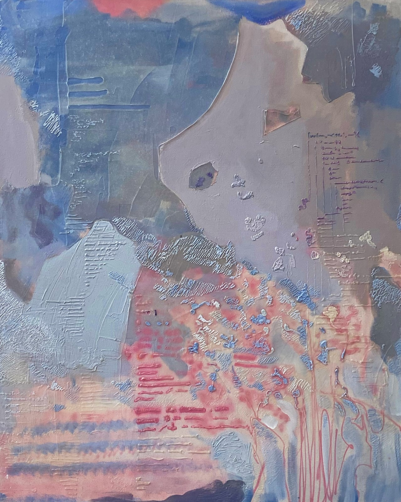Ricardo Cabret Un Nuevo Lenguaje, 2020 Gel polymers and acrylic on canvas 50 x 40 in 127 x 101.6 cm