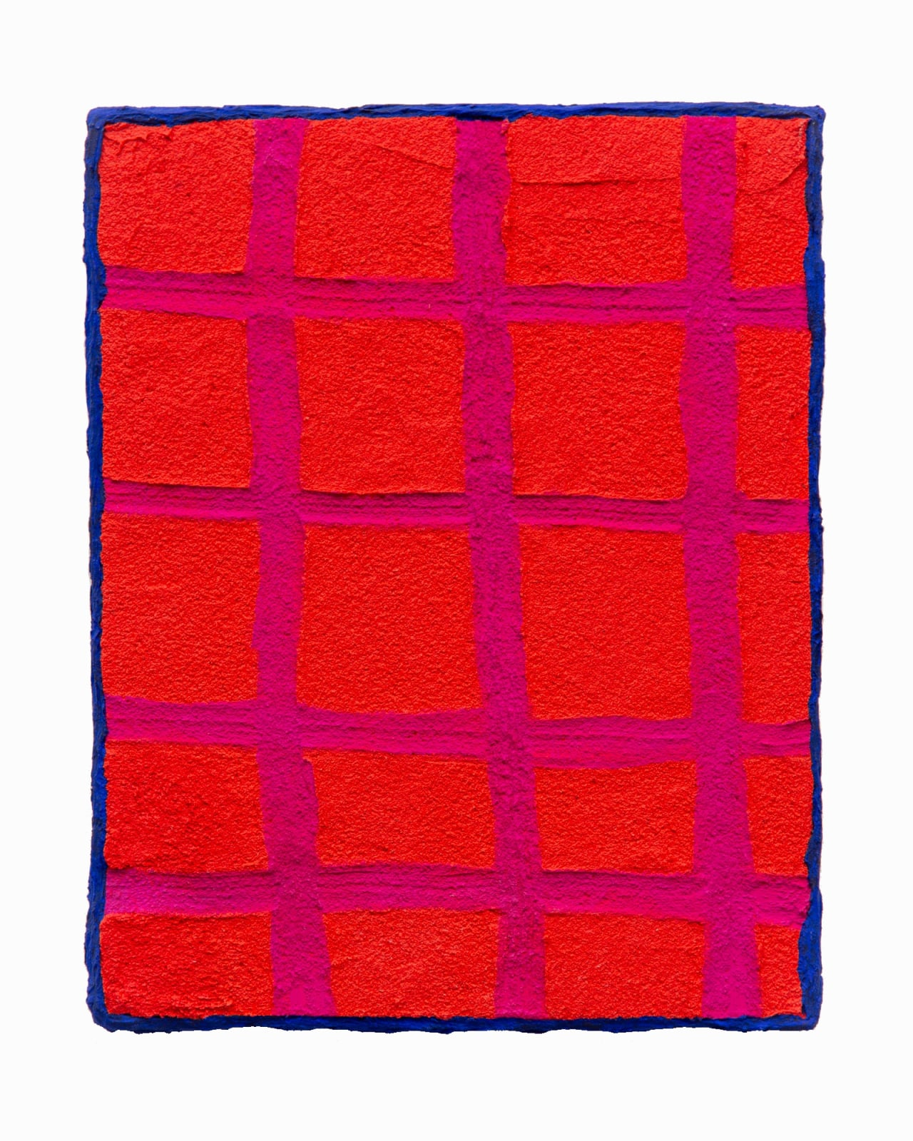 Nora Maité Nieves Red Amulet, 2020 Acrylic, flashe, coarse modeling paste, fiber-paste, and rhinestone on wood panel 14 x 11 in 35.6 x 27.9 cm