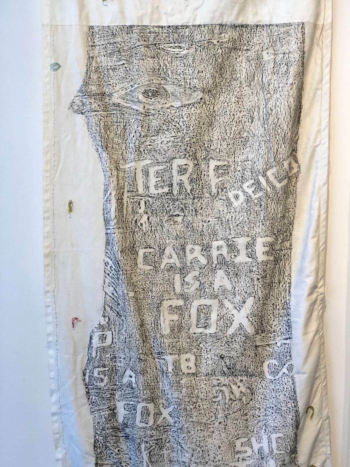 The Woods: Carrie is a Fox (detail) Katie Pell grew up in the suburbs of Wilmington Delaware in the 1970's