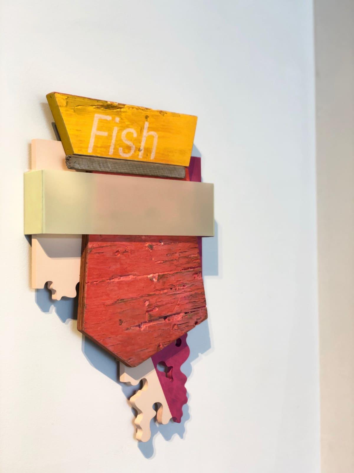 Andrés Ferrandis Fish, 2020 Acrylic on wood, polyester, objet trouvé and aluminum 20.5 x 13 x 2.25