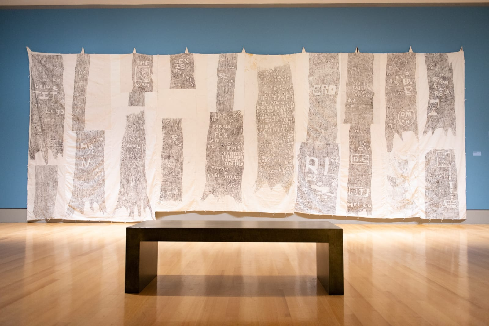 Katie Pell, The Woods, installed at the Columbia Museum of Art for her solo exhibition The Big Art of Katie Pell, 2018 Photo by Drew Baron, Courtesy of Columbia Museum of Art