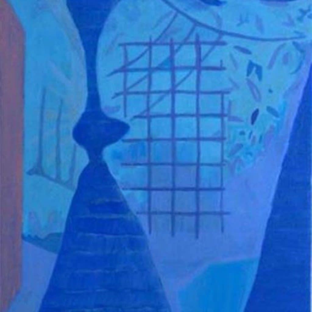 Rafael Uriegas, Patio Azul, 2015, Acrylic on canvas, 19.9 x 19.9